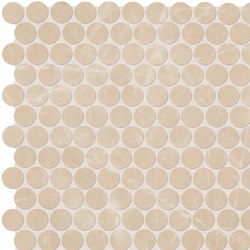 Roma Diamond Beige Duna Round Mosaico | Ceramic tiles | Fap Ceramiche