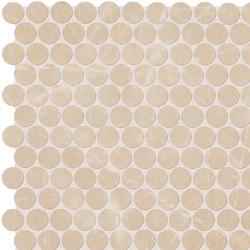 Roma Diamond Beige Duna Round Mosaico | Carrelage céramique | Fap Ceramiche