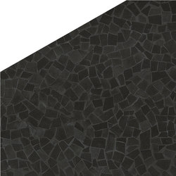 Roma Diamond Caleido Frammenti Black | Baldosas de suelo | Fap Ceramiche
