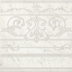 Roma Diamond Carpet Carrara Border | Ceramic tiles | Fap Ceramiche