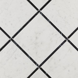 Roma Diamond Incroci Carrara Nero Reale | Ceramic tiles | Fap Ceramiche