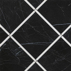Roma Diamond Incroci Nero Reale Carrara | Ceramic tiles | Fap Ceramiche