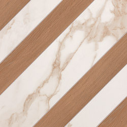 Roma Diamond Righe Calacatta Bark Avana | Ceramic tiles | Fap Ceramiche