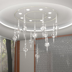 Boule Crystal Opulent Bespoke Dining | Suspended lights | Windfall