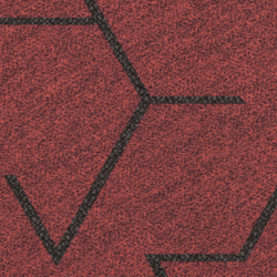 Flotex Planks | Triad red | Carpet tiles | Forbo Flooring