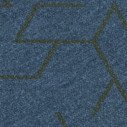 Flotex Planks | Triad blue | Carpet tiles | Forbo Flooring