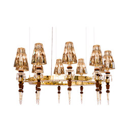 Lula 10 round Passement gold | Chandeliers | Windfall