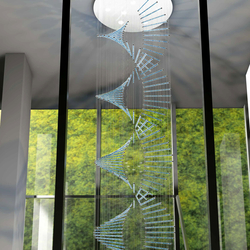 Tubees Bespoke Staircase | Suspended lights | Windfall