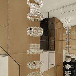 "Bespoke Chandelier ""Montblanc Naples"" 