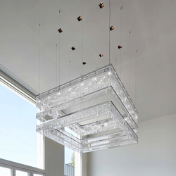 "Bespoke Chandelier ""Floating Tiers"" 