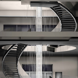 "Bespoke Chandelier Staircase ""Crystal Rain"" 