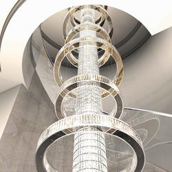 "Bespoke Chandelier ""Jewel Special"" Staircase 