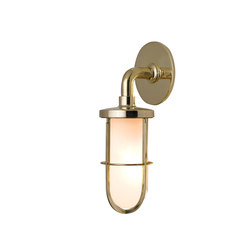 7207 Weatherproof Ship's Well Glass, Polished Brass Frosted Glass | Wall lights | Original BTC