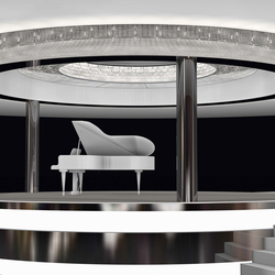 "Bespoke Chandelier ""Piano Bar"" 