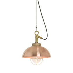 7222 Shipyard Pendant, Copper, Clear Glass | Iluminación general | Original BTC
