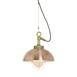 7222 Shipyard Pendant, Copper, Frosted Glass | Iluminación general | Original BTC