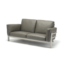 Castor Sofa 2 Seater Leather | Canapés d'attente | Karimoku New Standard