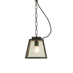 7635 Quad Pendant, Small, Weathered Brass, Clear, Closed Top | Iluminación general | Original BTC