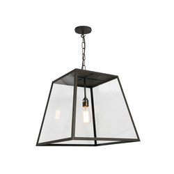 7635 Quad Pendant Light, Closed Top, Large, Weather Brass, Clear | Suspensions | Original BTC