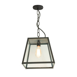 7635 Quad Pendant Light, Closed Top, Medium, Weather Brass, Clear | Suspensions | Original BTC