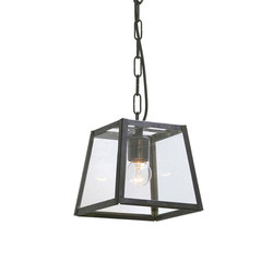 7636 Quad Pendant Internally Glazed, Small, Weathered Brass Clear | Suspensions | Original BTC