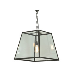 7636 Quad Pendant, Internally Glass, Large, Weathered Brass, Clear Glass | Lampade sospensione | Original BTC