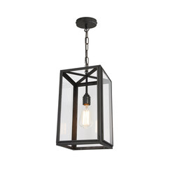 7639 Small Square Pendant, External Glass, Weathered Brass, Clear | Suspensions | Original BTC
