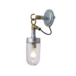 7679 Well Glass Wall Light, Galvanised, Clear Glass | Allgemeinbeleuchtung | Original BTC