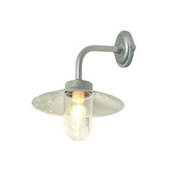 7680 Exterior Bracket Light, Right Angle, Round, Galvanised, Clear | Wall lights | Original BTC