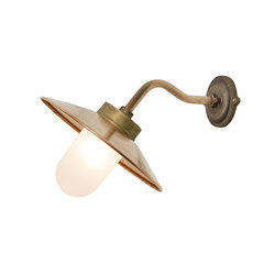 7680 Exterior Bracket Light, Canted, Round, Gunmetal, Frosted | Wall lights | Original BTC