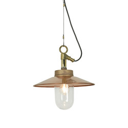 7680 Well Glass Pendant With Visor, Gunmetal, Clear Glass | Suspensions | Original BTC