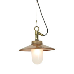 7680 Well Glass Pendant With Visor, Gunmetal, Frosted Glass | Suspensions | Original BTC