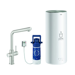 GROHE Red Duo Faucet and L size boiler   Kitchen taps   GROHE