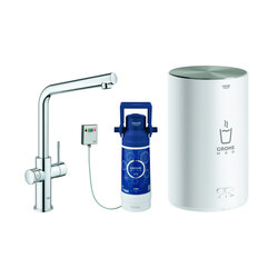 GROHE Red Duo Faucet and M size boiler | Kitchen taps | GROHE