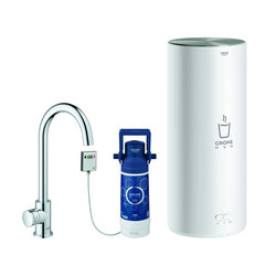 GROHE Red Mono Pillar tap and L size boiler | Kitchen taps | GROHE