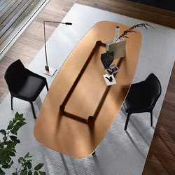 MAGMA table | Dining tables | Fiam Italia