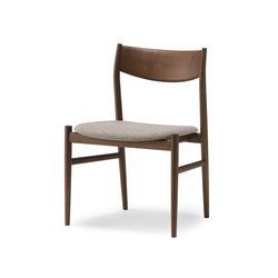 KAMUY Armless Chair upholstered seat | Sedie | Conde House