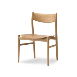 KAMUY Armless Chair wood seat | Sedie | Conde House