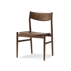 KAMUY Armless Chair wood seat | Chairs | Conde House