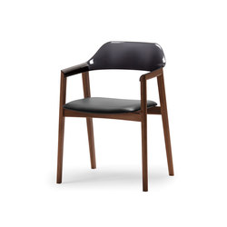 TEN Armchair Black Resin Back upholstered seat | Sedie | Conde House