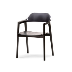 TEN Armchair Black Resin Back wood seat | Sedie | Conde House
