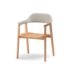 TEN Armchair Upholstered Back wood seat | Sedie | Conde House