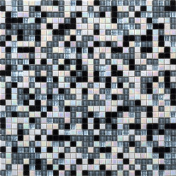 Botanic Tale 10x10 Grey Mix 3 | Glass mosaics | Mosaico+