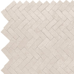 French Mood Chalon Mosaico Chevron Burattato | Ceramic mosaics | Ceramiche Supergres