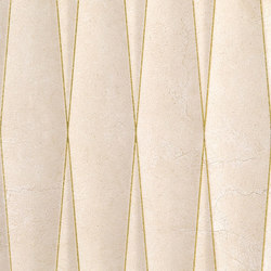 Purity Marfil Struttura Net Glitter Oro | Keramik Fliesen | Ceramiche Supergres