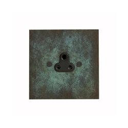 Verdgris single 2amp socket | British sockets | Forbes & Lomax