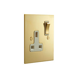 Unlacquered Brass single 13amp socket | British Standard | Forbes & Lomax