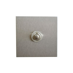 Stainless Steel button dimmer | Interruptores pulsadores | Forbes & Lomax