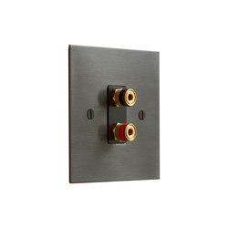 Antique Bronze speaker socket | Multimedia ports | Forbes & Lomax