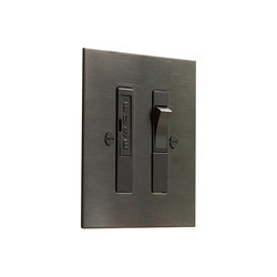 Antique Bronze switched fused spur | Sicurezza | Forbes & Lomax